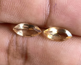 5x10mm Citrine Pair Natural Marquise Faceted Gemstone VA1173