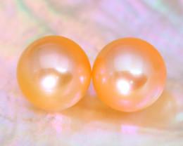 8.2mm 7.87Ct Natural Australian South Sea Orange Color Pearl B3014