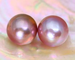 10.0mm 14.06Ct Natural Australian South Sea Purple Color Pearl B3024