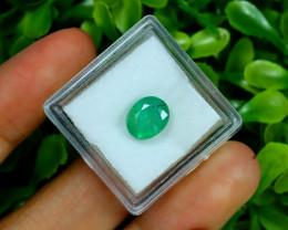 Zambian Emerald 2.41Ct Oval Cut Natural Green Color Emerald B3025