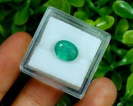 Zambian Emerald 2.56Ct Oval Cut Natural Green Color Emerald B3037