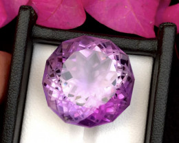 Top Grade Spider Cut 45.25 cts of Natural Amethyst Ring Size~T