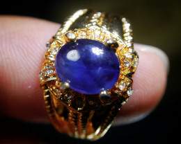 25.70 CT Natural Blue Sapphire Jewelry Ring