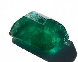 Polished Natural Brazilian emerald – 15.67 ct ( Emerald Cut)