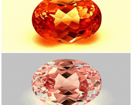 No reserve1.86(ct)Padparadscha color change Eye clean Garnet from Tanzania