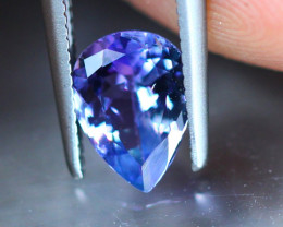 1.01ct Natural Violet Blue Tanzanite Pear Cut Lot GW9098