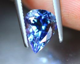 1.60ct Natural Violet Blue Tanzanite Pear Cut Lot GW9105
