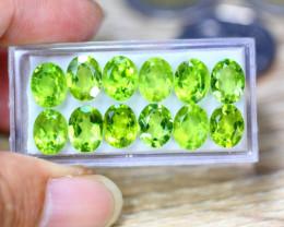 27.14ct Natural Green Peridot Oval Cut Lot GW9107