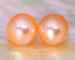 8.0mm 7.00Ct Natural Australian South Sea Orange Color Pearl A0113