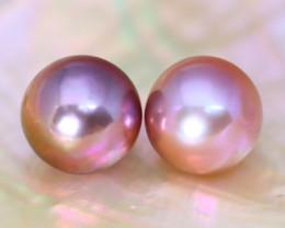 9.9mm 14.01Ct Natural Australian South Sea Purple Color Pearl A0122