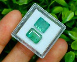 Zambian Emerald 4.93Ct 2Pcs Octagon Cut Natural Green Emerald C0102