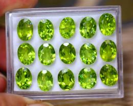 33.50Ct Natural Green Peridot Oval Cut Lot LZ8939