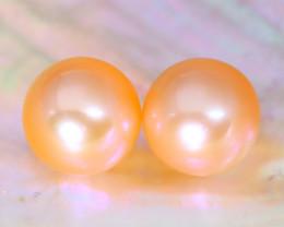 8.0mm 7.24Ct Natural Australian South Sea Orange Color Pearl B0213