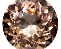 0.90Cts Beautiful Natural Peach  Color Morganite Round Shape  Loose Gemston