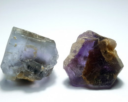 Amazing Natural color gemmy quality 2 Fluorite Crystals 208Cts-P