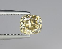 Certificate 0.78 carat Natural Diamond natural fancy yellowish brown colour