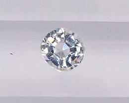 0.61ct unheated white sapphire