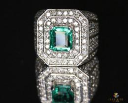 Outstanding Custom Emerald Ring