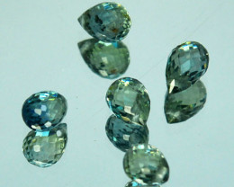 2.04 Cts Natural Green Sapphire Briolette Parcel Drilled