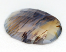 Opal 9.16Ct Natural Scenic Dendrite Opal Faceted Madagascar C0323