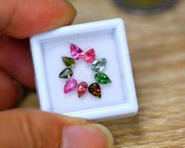 4.16ct Natural Fancy Color Tourmaline Pear Cut Lot B3817