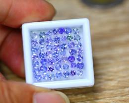 5.80ct Natural Violet Blue Tanzanite 2.8mm Round Cut Lot B3842