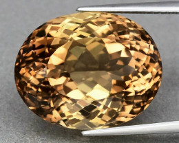 21.34 ct. 100% Natural Earth Mined Top Quality Topaz Orangey Brown Brazil