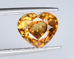 2.40 ct Cambodia Natural Yellow Brownish Zircon - Heart Shape