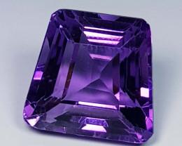 13.95 ct  Top Quality Gem Fancy Cut Natural Purple Amethyst