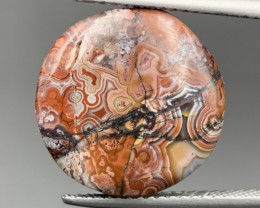 7.60 Cts Rare Mexican Crazyless Agate Cabochon. crz-5971