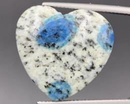19.45 Cts Rare Excellent Heart Shape Himalayan K2 Cabochon. K2-63932