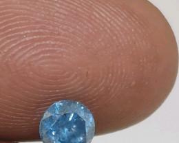 Cert  $1561 Gorgeous  0.80 cts SI3 Fancy Sky Blue Round Loose Diamond