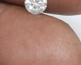 Cert $ 853 Fiery 0.51cts SI2 White Loose Diamond Round  Natura