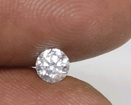 Certified $636 0.40cts  SI2 White Round Loose Diamond Brilliant