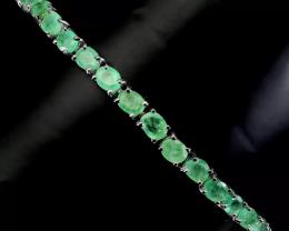 (29) Beautiful 58.5tcw. All Natural  Emerald Bracelet