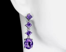 (26) Astounding Natural 22.5tcw.  Amethyst Earrings