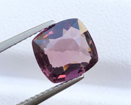 ~No Reserve~3.210(ct) Spinel Purplish/Pinkish Color Cushion Cut Faceted Gem