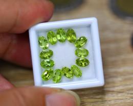 6.20ct Natural Green Peridot Oval Cut Lot V7885