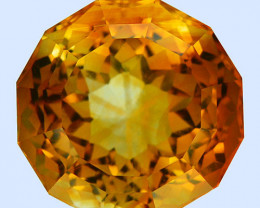 7.72 Cts Excellent Facet Natural Citrine Round Master Cut Collection Gem Re