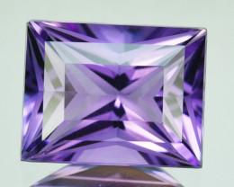 4.19 Cts Genuine 100% Natural Amethyst Princess Shape Custom Cut REF VIDEO