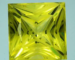 5.72 Cts Supreme Natural Lemon Quartz Square Custom Cut Collectible REF VID