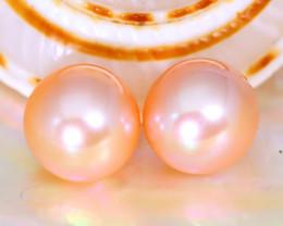 8.2mm 7.87Ct Natural Australian South Sea Orange Color Pearl B0405