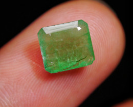 1.85 CT Octagon Zambian Emerald Gemstone