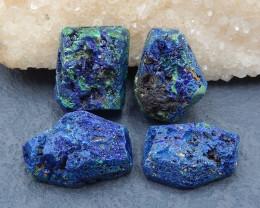 D2230 - 215cts Beautiful Nugget Blue Azurite Rough Cabochon,Natural Blue Az