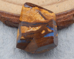 D2239 - 15.5cts Natural Boulder Opal Gemstone faceted Cabochon,Rare Fire Op