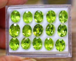 31.65ct Natural Green Peridot Oval Cut Lot P430