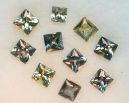 1.07 Cts Natural Color Change Sapphire  2.6-2.2mm Princess Cut 10Pcs Parcel