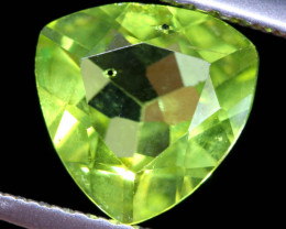 1.65  CTS   GREEN PERIDOT FACETED STONE    SG -1965  simplygems