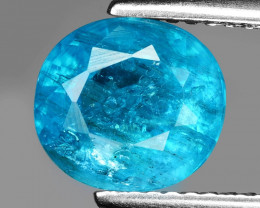 Neon Blue Apatite 2.51 Cts Unheated Natural Gemstone