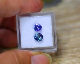 1.74ct Natural Violet Blue Tanzanite Round Cut Lot V7922
